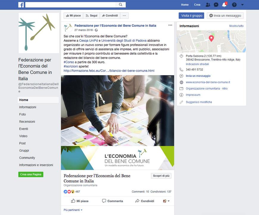 Progetto Federazione per l'economia del Bene Comune | Arte Laguna